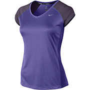 Nike Womens Miler SS V-Neck Top AW14